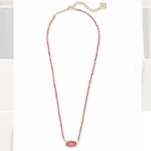 NWOT Kendra Scott Elisa Gold Beaded Necklace- Pink